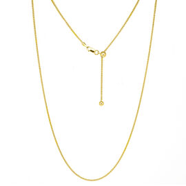 Adjustable Slider Chain in Gold Plated Sterling Silver 24 Inch