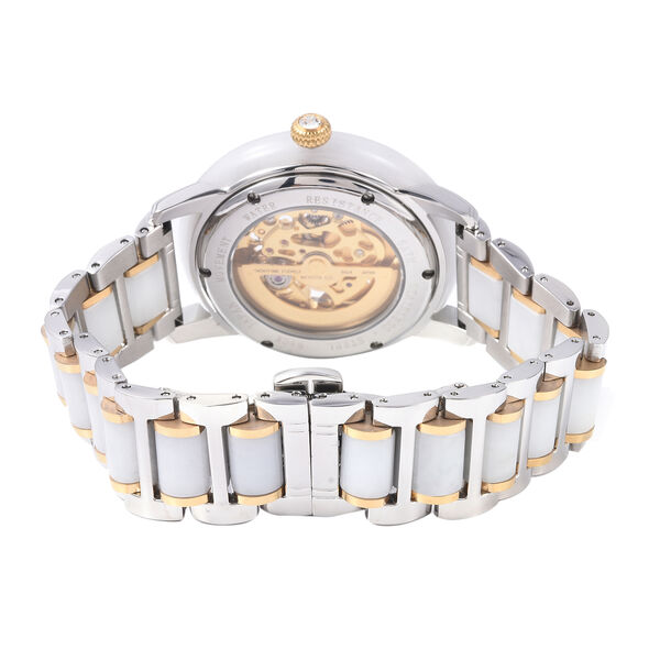Limited Available - EON 1962 Hand Carved White Jade Japanese Skeleton Movement Water Resistant Watch