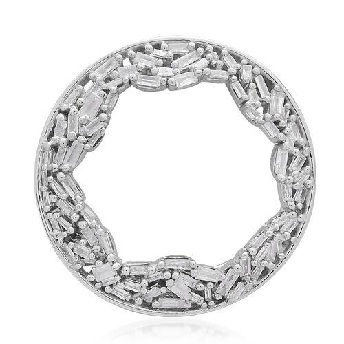 9K W Gold Fire Cracker SGL Certified Diamond (Bgt) (I3/G-H) Circle Pendant 0.500 Ct.Gold Wt 3.00 Gms