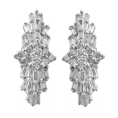 RHAPSODY 0.50 Carat Diamond Floral Ballerina Stud Earrings in 950 Platinum 3 grams IGI Certified VS