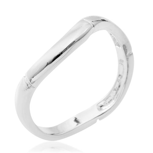 Sterling Silver Wave Band Ring.