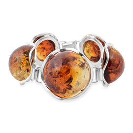 Baltic Amber Bracelet (Size 7) in Sterling Silver