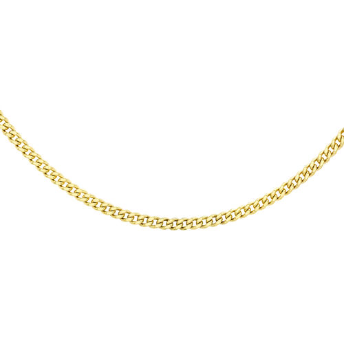 14K Gold Overlay Sterling Silver Adjustable Curb Chain (Size 18 with 2 inch Extender)