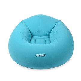 Inflatable and Portable Lazy Chair (Size: 105x105x65cm) - Blue