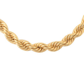 20 Inch Long Rope Necklace in 9K Gold 32.38 Grams