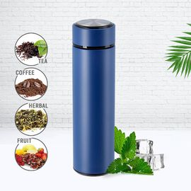 Hot and Cold Flask with Tea Infuser (Size 23x6cm - 500ml) - Navy Blue