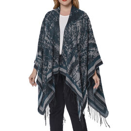 Printed Kimono (Size 135x75+13cm) - Black and Green
