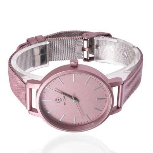 STRADA Japanese Movement Water Resistant Watch with Pink Strap