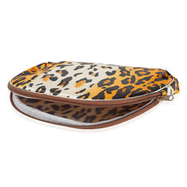 Set of 5- Cosmetic Purse with Large Leopard Print
