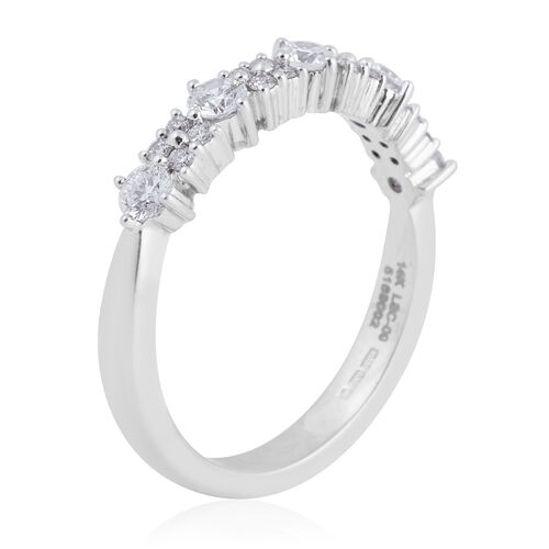 New York Close Out 14K White Gold Diamond (Rnd) (SI/G-H) Ring 0.500 Ct.