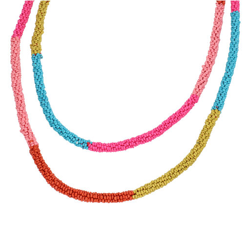New Arrival- Endless Bead Necklace (Size 58) - Multi Tourmaline Color