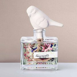 Decorative Scented Reed Bird Diffuser (100 ML) - Lily Magnolia Fragrance
