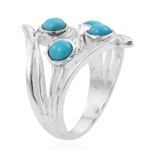 Arizona Sleeping Beauty Turquoise (Rnd) Ring in Sterling Silver 1.140 Ct.