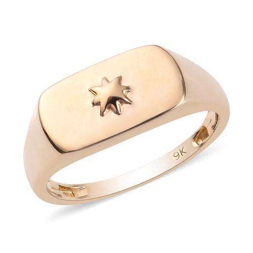 9K Yellow Gold Signet Ring