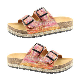 Heavenly Feet Flutter Womens Red and Multi-Coloured Sandals