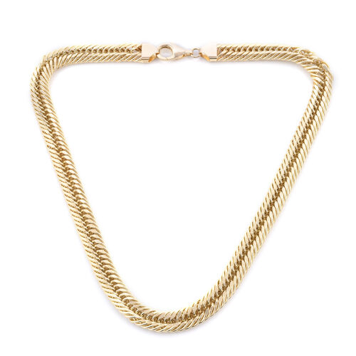 Royal Bali Collection - 9K Yellow Gold Curb Necklace (Size 20), Gold wt 48.30 Gms. (Gold Wt 1.55 Oun