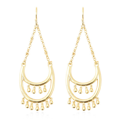 LucyQ Drip Collection - Yellow Gold Overlay Sterling Silver Hook Earrings