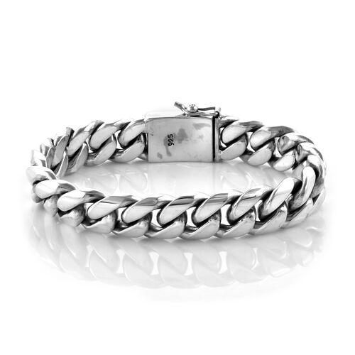 Royal Bali Collection Sterling Silver Snake Bone Bracelet (Size 8), Silver wt 106.64 Gms.