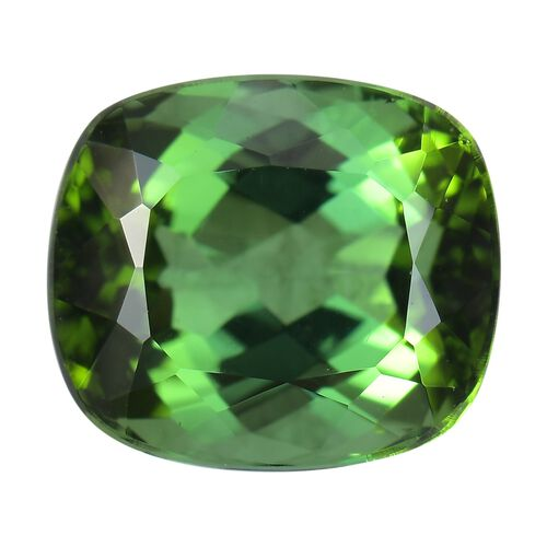 AA Green Tourmaline Cushion 2-2.99 Faceted 2.82 Cts