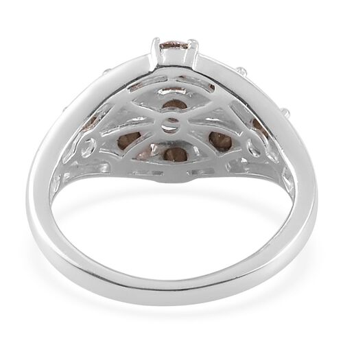 J Francis Crystal from Swarovski - AB Crystal Ring in Sterling Silver