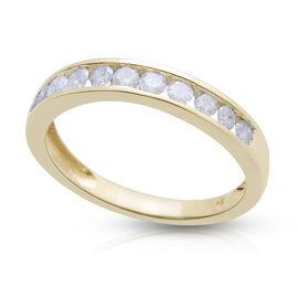 Diamond (0.50 Ct) 9K Y Gold Ring  0.500  Ct.