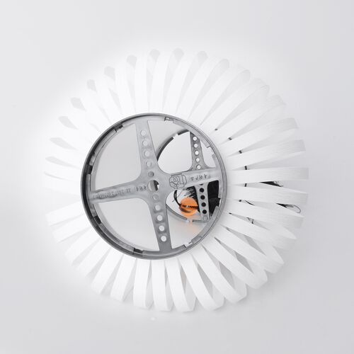 White with Black Fringer DIY Lampshade (Size 12.3x28 Cm)