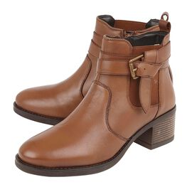 Lotus Tan Leather Janet Ankle Boots