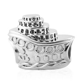 Charms De Memoire Platinum Overlay Sterling Silver Ship Charm