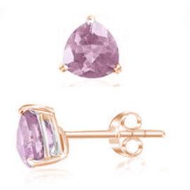Rose De France (Trl) Earrings in Rose Gold Overlay Sterling Silver 3.000 Ct