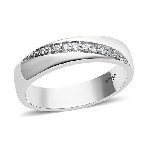 RHAPSODY Diamond Band Ring in 950 Platinum 6.70 Grams IGI Certified VS EF 0.10 Ct