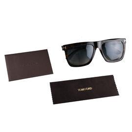 TOM FORD Rectangle Tortoise Sunglasses- Brown