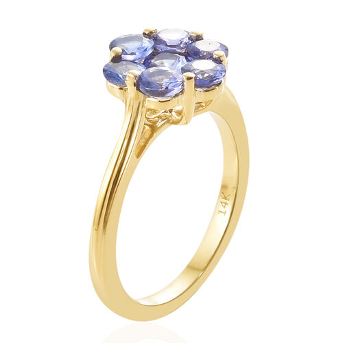 Close Out Deal-14K Yellow Gold AA Tanzanite (Rnd) Ring 1.500 Ct.Gold Wt 3.35 Gms