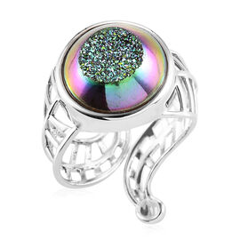 Sajen Silver Drusy Agate Ring in Sterling Silver 11.50 Ct.