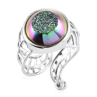 Sajen Silver ILLUMINATION Collection - Drusy Agate Ring in Sterling Silver 11.50 Ct.