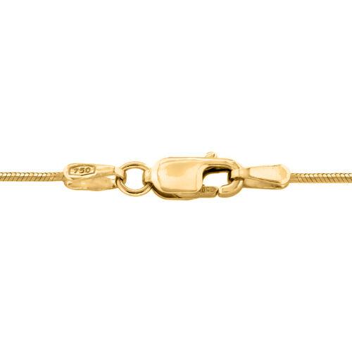 ILIANA 18K Yellow Gold Shiny Snake Chain (Size 18)