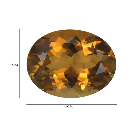 AA Yellow Tourmaline Oval 9x7 Faceted 1.74 Cts