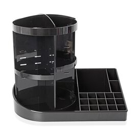 Black Colour 360 Degree Rotating Makeup Organizer (Size 38x30 Cm)