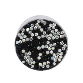 Black and White Shungite Plate Phone Pop Holder (Size 4x2 Cm)