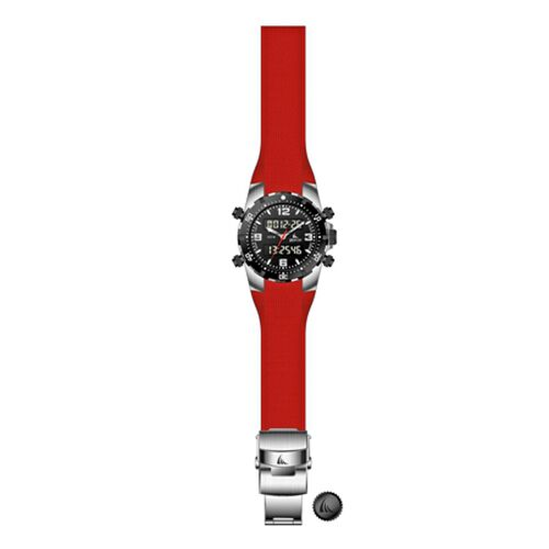 ZTSport Digital Chronograph, 100 mts/10 ATM Water Resistant, Red Silicon Strap, Quality 3-Hand Sport Watch.