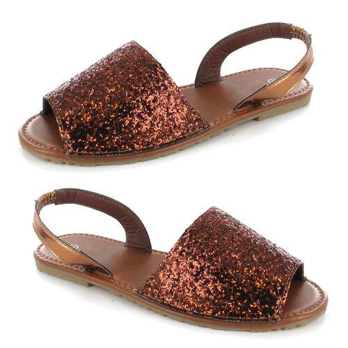 OLLY Palma Glitter Mule Sandal (Size 7) - Brown