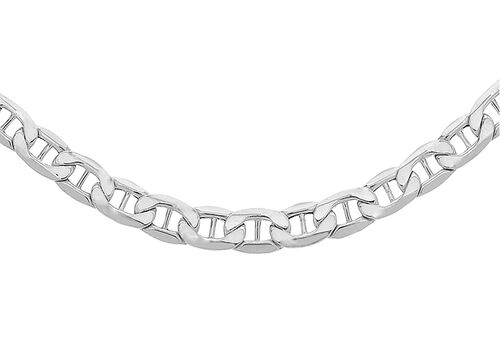 Sterling Silver Flat Rambo Chain (Size 18), Silver wt 4.40 Gms