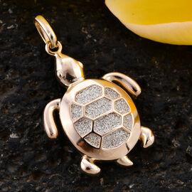 Royal Bali Collection - 9K Yellow Gold Turtle Pendant
