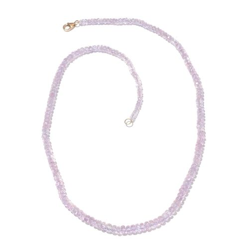 Limited Edition ILIANA 18K Yellow Gold AAAA Very Rare Marropino Morganite Necklace (Size 18) 57.150 Ct.