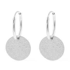 Rhodium Overlay Sterling Silver Earrings (with Clasp)
