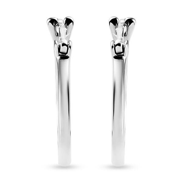 RHAPSODY 950 Platinum Hoop Earrings (with Clasp Lock), Platinum wt 1.77 Gms