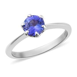 RHAPSODY 1 Carat AAAA Tanzanite Solitaire Ring in 950 Platinum 3 Grams