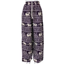 Elephant and Paisley Pattern Purple Colour Pajama (Size 40)