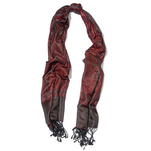 100% Superfine Silk (105 GSM) Red Scarf (Size 180x70 Cm)