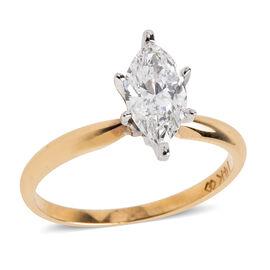 0.9 Ct Diamond Ring in 14K Gold 2.19 Grams EGL Certified