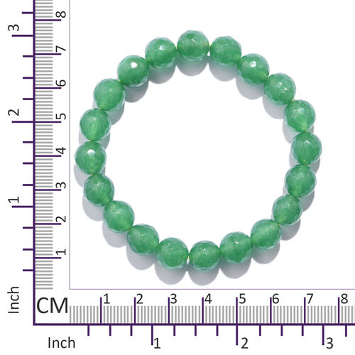 TJC Launch- Verde Onyx (Rnd 10mm) Stretchable Beads Bracelet (Size 7) 120.000 Ct.